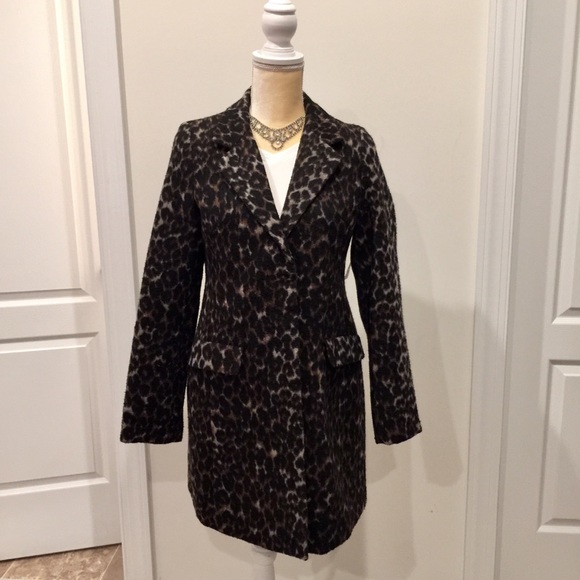 359e4ab341f Old Navy Leopard Wool Peacoat New With Tag